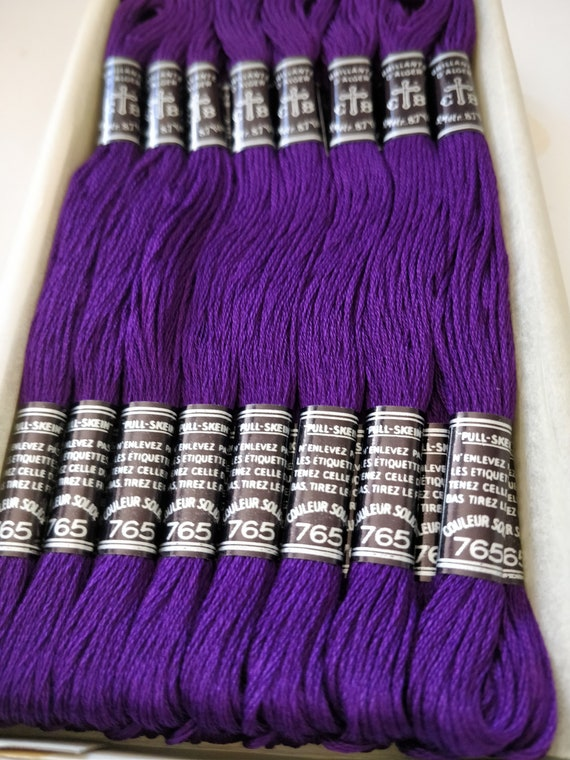 8m Skein DMC Light Effects Thread E3837 PURPLE RUBY Embroidery Floss