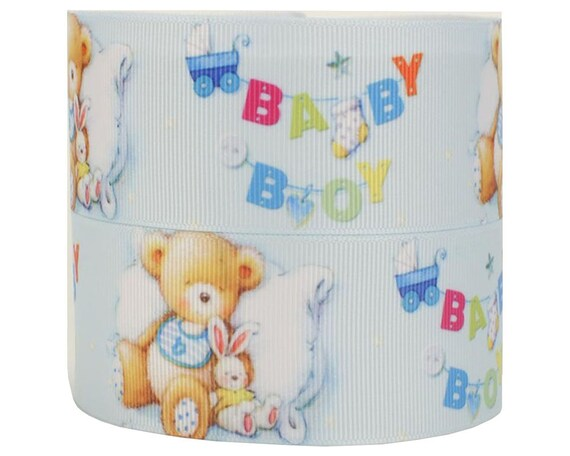 Blue It/'s a boy Gender Reveal Baby Shower Cake Gift Wrap Ribbon 2M X 22MM