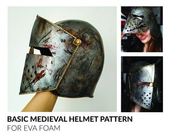 Medieval Helmet Pattern for Eva Foam