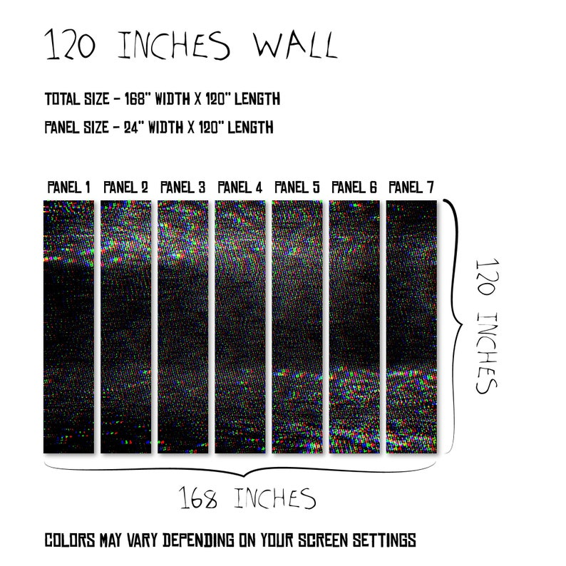 Abstract Noise Grainy Self Adhesive Sticker Grunge Removable Decor Black Computer Glitch Wall Mural Old TV Screen Peel /& Stick Wallpaper