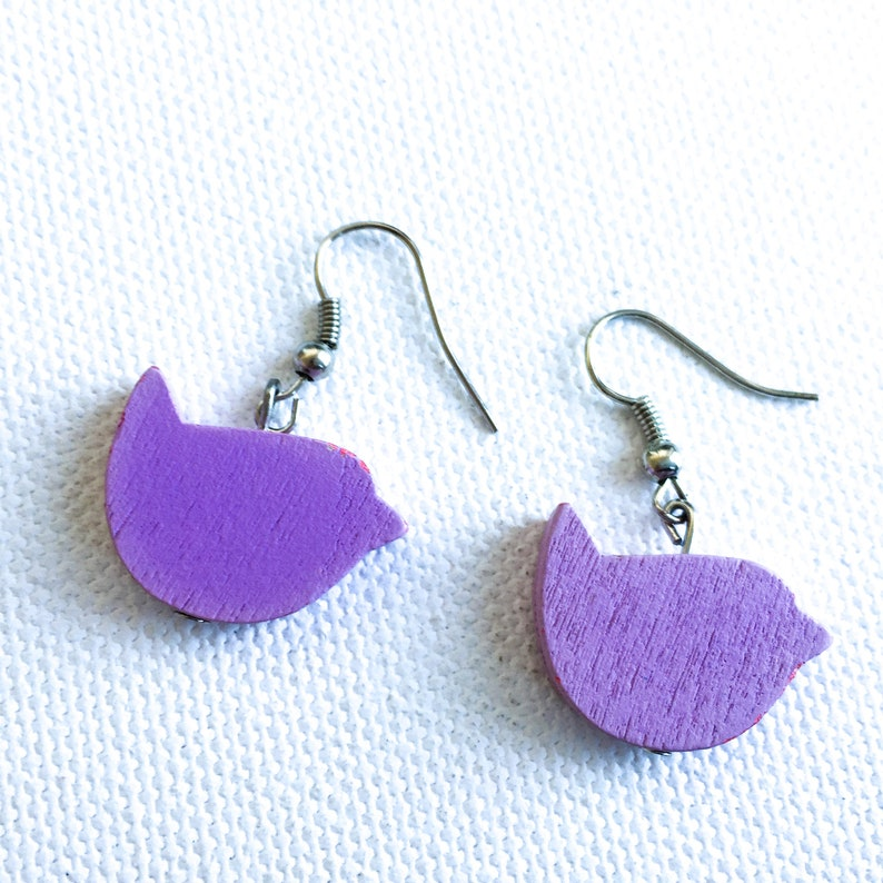Details about  /Handmade Sweet Pink Shimmer Rhombus Earring