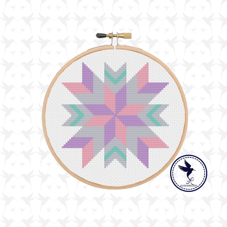Starburst Quilt Block - PDF Cross Stitch Pattern