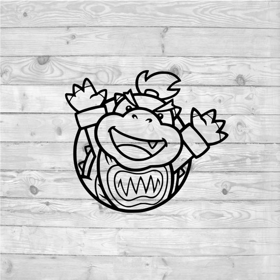 Bowser Jr Svg Instant Download Svg Png Dxf Cricut Cameo Silhouette Vinyl Design Heat Press File Super Mario