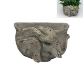 Elephant Planter Wall Mounted Plant Pot Hand Carved Finish