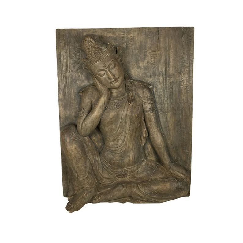 Buddha Wall Art Napping Sculpture Large