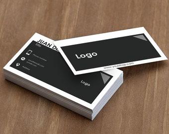 Editable Business Card Template Free Edit Orange Black Card Etsy