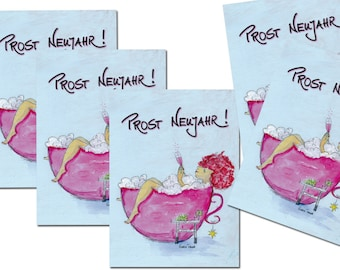 5 Postcards: Prost New Year!