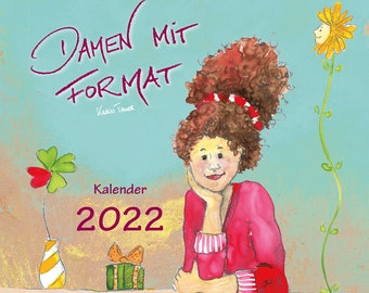 Calendar 2022 - Ladies with format - Wall calendar
