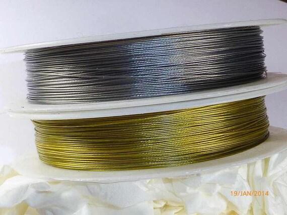 50 Meter Schmuckdraht 0,45 mm in goldfarben