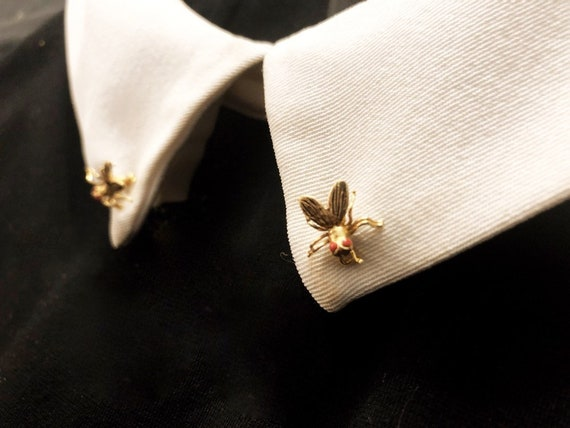 Vintage Fly Brooches from Madrid Spain