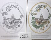 South Carolina - Black Line Drawing Limited Edition Bundle