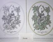 Florida - Black Line Drawing Limited Edition Bundle