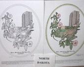 North Dakota - Black Line Drawing Limited Edition Bundle