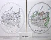 Alaska - Black Line Drawing Limited Edition Bundle