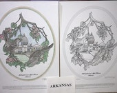 Arkansas - Black Line Drawing Limited Edition Bundle