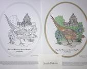 South Dakota - Black Line Drawing Limited Edition Bundle