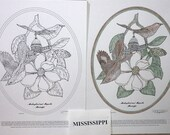 Mississippi - Black Line Drawing Limited Edition Bundle