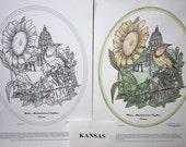 Kansas - Black Line Drawing Limited Edition Bundle
