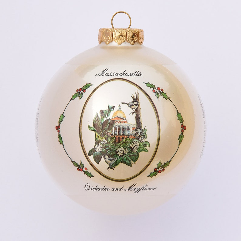 Massachusetts  Art of the States Christmas Ornaments image 0