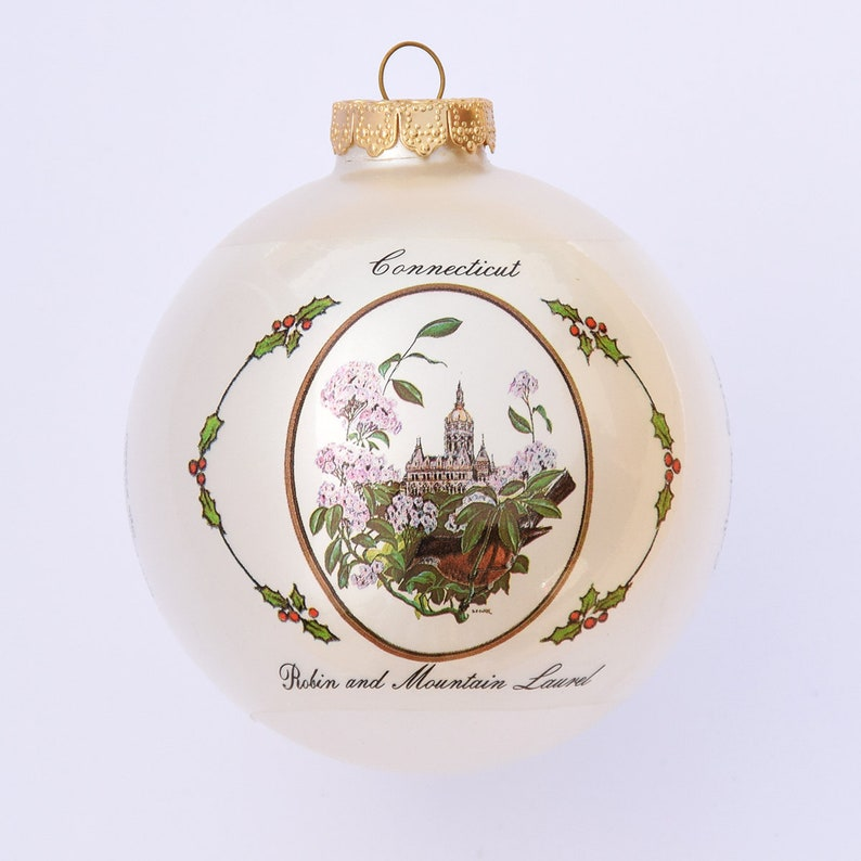 Connecticut  Art of the States Christmas Ornaments image 0