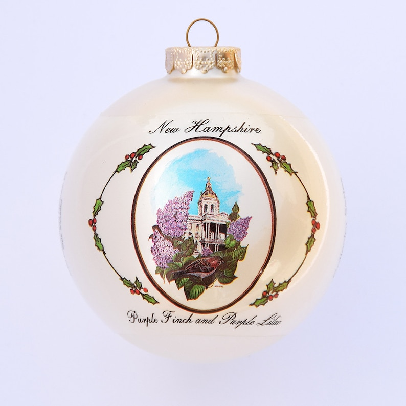 New Hampshire  Art of the States Christmas Ornaments image 0