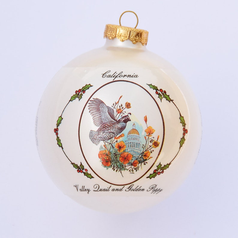 Cailfornia  Art of the States Christmas Ornaments image 0