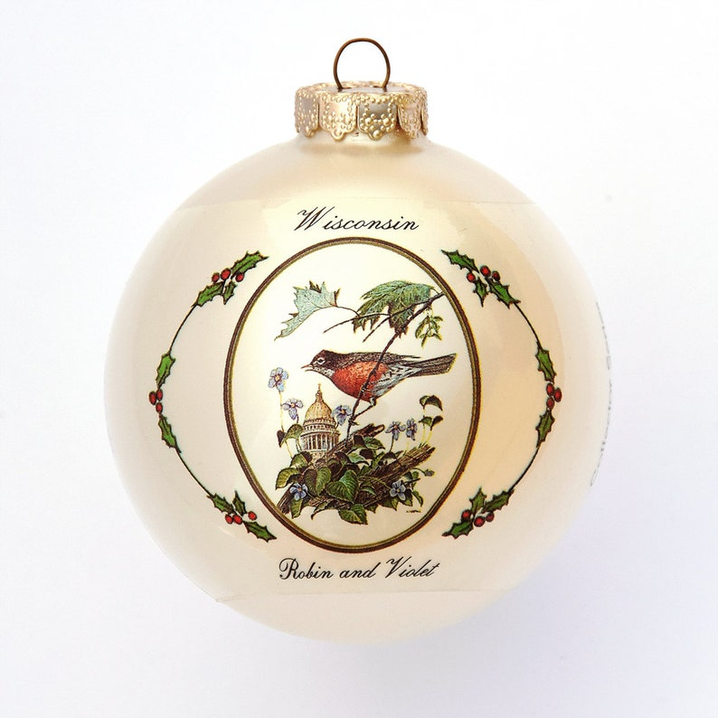 Wisconsin  Art of the States Christmas Ornaments image 0