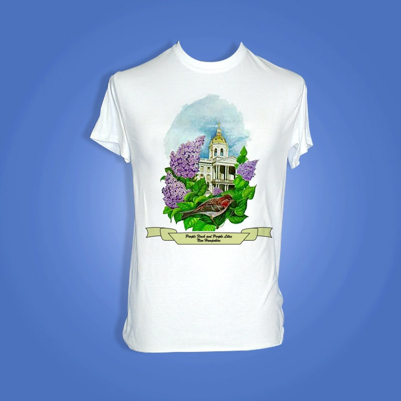 New Hampshire  Art of the State T-Shirts image 0
