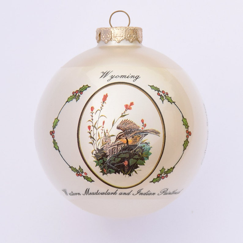 Wyoming  Art of the States Christmas Ornaments image 0