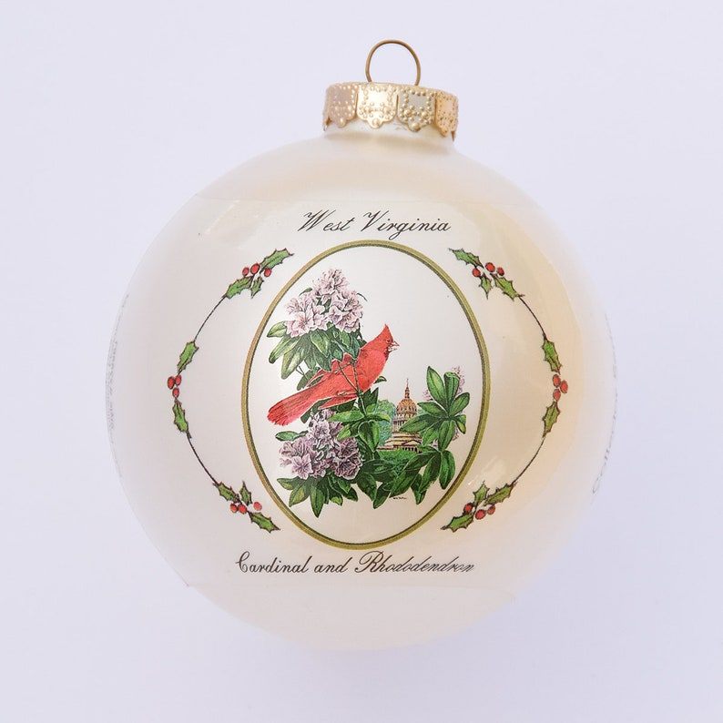 West Virginia  Art of the States Christmas Ornaments image 0