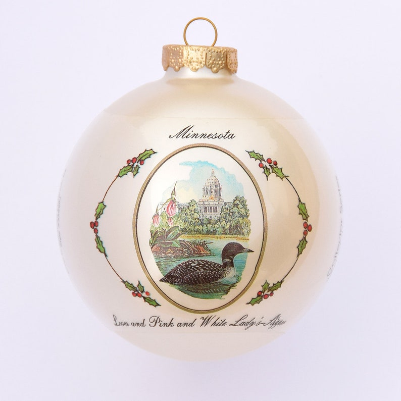Minnesota  Art of the States Christmas Ornaments image 0