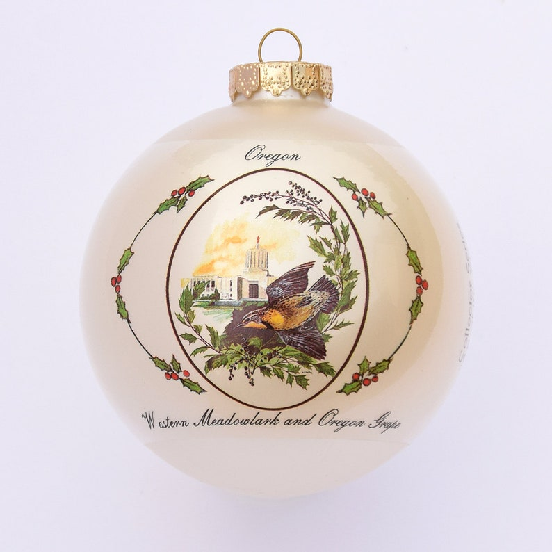 Oregon  Art of the States Christmas Ornaments image 0