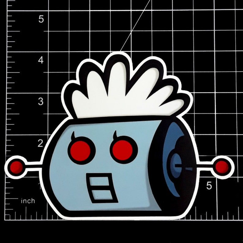 Rosie from The Jetsons Die-Cut Vinyl Art Sticker and Acrylic Pin!