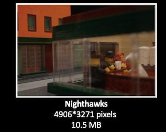 Nighthawks in bricks (digital file, picture)