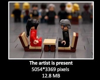 Performance art in bricks (digital file, picture)