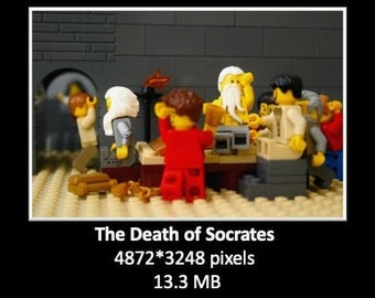 Socrates in bricks (digital file, picture)