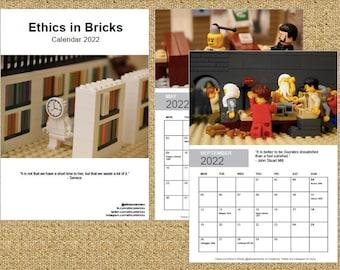 Ethics in Bricks 2022 Calendar (DIGITAL PDF file)