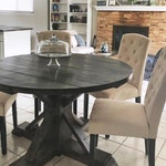 Round Farmhouse Table, Farmhouse Table, Rustic Table, Dining TableSHIPPING NOT INCLUDED: Please contact us for quote.
