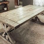 Farmhouse Extension Trestle Table, Farmhouse Table, Rustic Table, Dining Table
