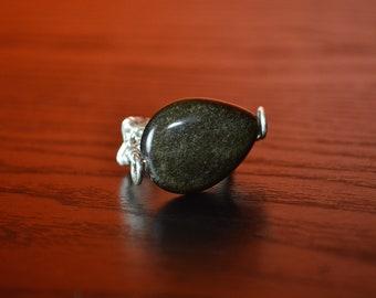 Obsidian in Silver