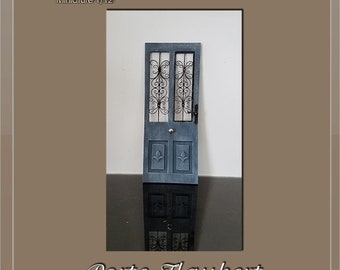 Part.2 Wrought iron style ironwork grid - dollhouse miniature 1:12