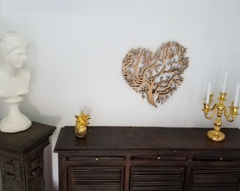 Wall heart - dollhouse miniature 1:12