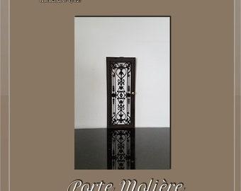 Part. - 1 Wrought iron style ironwork grid - dollhouse miniature 1:12