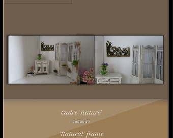 "Frame ""nature"" - dollhouse miniature 1:12"