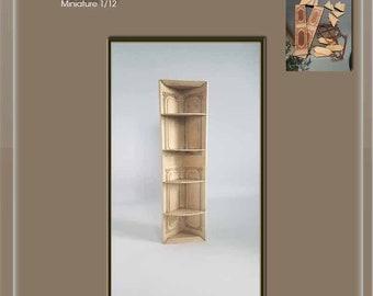 High corner shelf - dollhouse miniature 1/12
