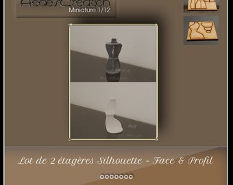"""Set of 2 Miniatures """"ironwork style"""" shelf 1:12 dollhouse kit"""