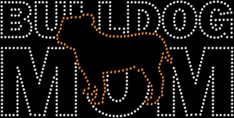 Rhinestone Bling Sparkle Iron On Transfer DIY Pug Mom Dog Pet