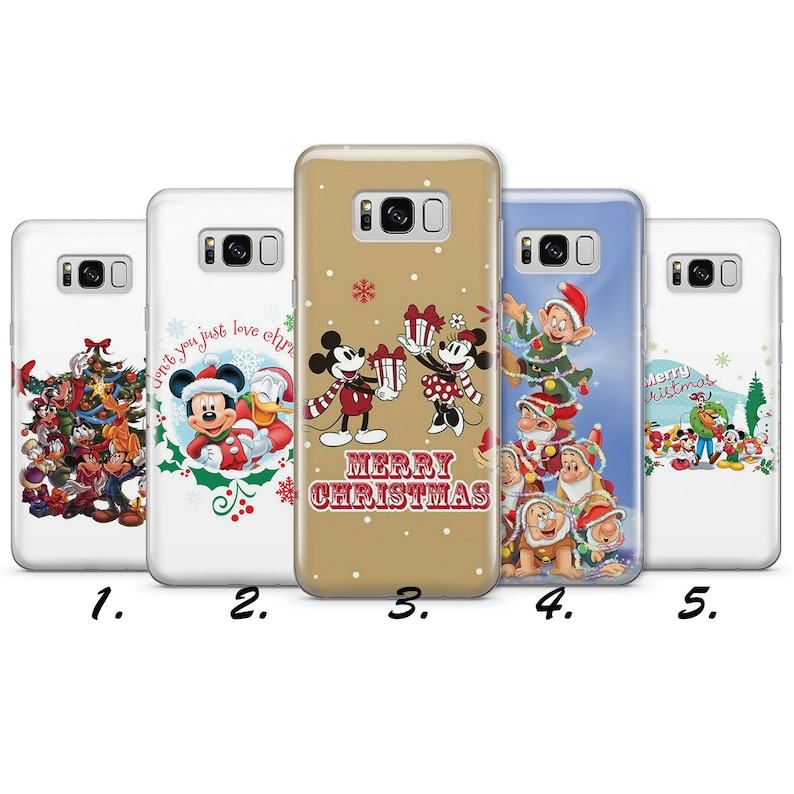 Christmas Funny Mickey Mouse Disney Cute Gift Kids New 2018 Wallpaper Quotes Uv Gel Silicone Phone Case Cover Samsung S J A Models