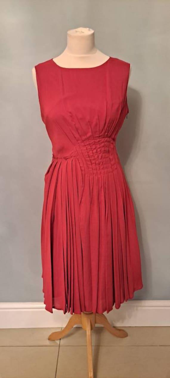 Betty Jackson black blue jacquard dress 14