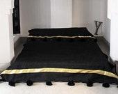 HANDWOVEN BERBER BLANKETHome Decor Cotton Throw Blanket Picnic Throw , Sofa Throw Handmade Throw Blanket, Boho Chick Blanket,Graduation Gift